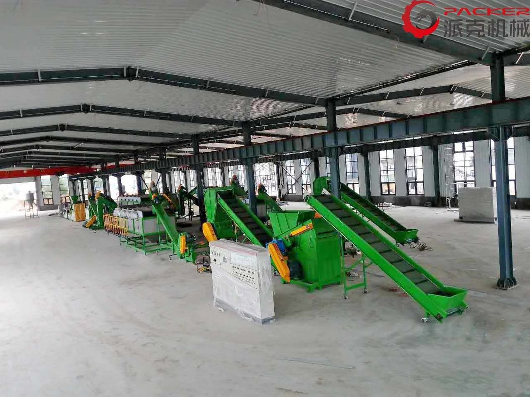 100-200KW Plastic Recycling Washing Line 304 Stainless Steel Bearing NSK 5-10tons