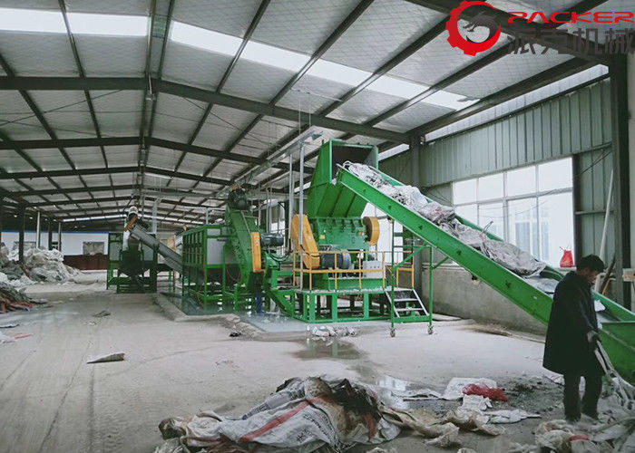Recycling Plastic Film Washing Line 300-1000KG/H PP PE Green Weight 20-30 Ton