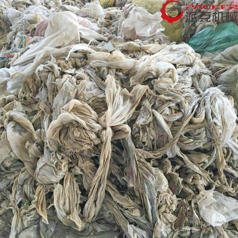 PE PP Film Plastic Washing Machine , Plastic Recycling Machine Single Screw