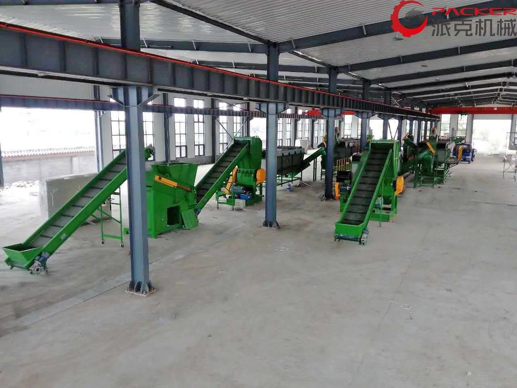 Stainless Steel 304 PP PE Film Recycling Line , Film PET Recycling Plant