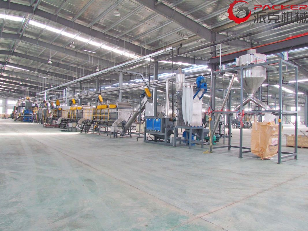 Oil PET Bottle Washing Recycling Line With High Speed Dewatering System