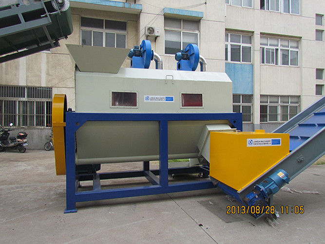 3kw Screw Plastic Process Equipment , Film Sand Grass Remover Plastic Auxiliary Machine
