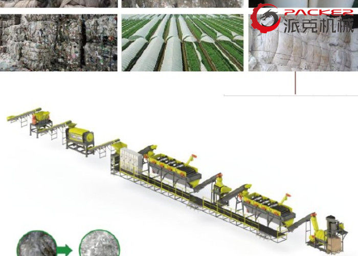 Low Rotation Speed Plastic Washing Machine , PP PE Film Recycling Line Durable